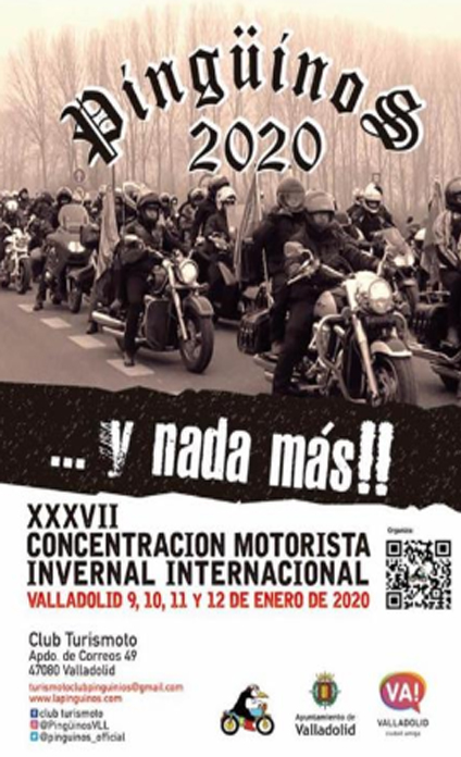 Valladolid pinguinos cartel motos